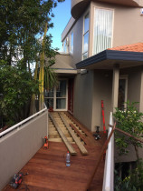 Browns Bay North Shore - Relaying new Kwila decking