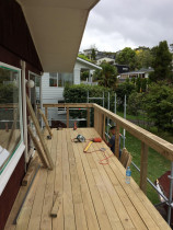 Hillcrest North Shore - New pine decking with new timber handrail