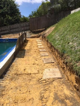 Retaining Wall Prep and Holes