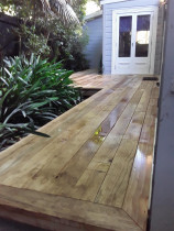 25m2 pine deck - Law landscapes ltd built this 25 m2 wrap around pine deck. 