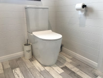 Toilet installed by Lockhart Construction