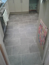 Laminate Vinyl Tiles with offset pattern