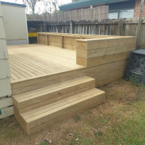New Deck/Planter box/Seating Area