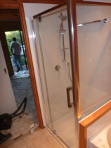 Completion of a shower unit - Installation of shower by Multi-Maintenance Ltd, Auckland