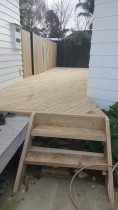 After - After completion of the decking .