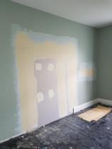 Patching up wall - Patching up wall after removing door,