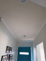 Skim hallway ceilings - Skimming hallway textures ceilings to a beautiful smooth finished