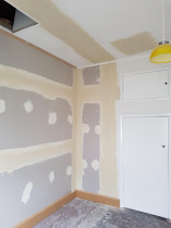 Gib stopping on wall - Gib stopping on wall and patching ceiling,