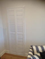 Hinged PVC shutters - Shutters hinged with Z frame