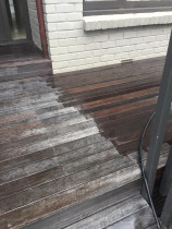 Deck reviving and staining by Shoreline Property Services Ltd