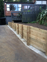 Retaining Wall Work - We can construct any size retaining wall