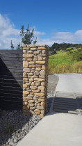 River Stone Pillar - Traditional Stoneworks