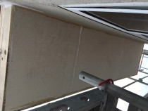 Install new exterior ceiling