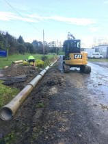 Culvert Work - Installing culverts for rural driveway crossing