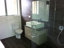 Torbay job by 5 Star Plumbing - Installation of toilet, new vanity and shower