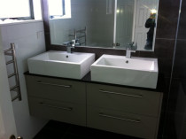 Torbay job by 5 Star Plumbing - Installation of double vanity new