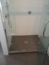 shower floor & walls  renovation