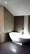 Updated bathroom - 450X900 Italian Tiles with standing bath.