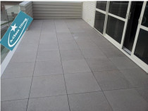 Deck tiling on stands