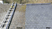 Before & After shots of a Roof clean in Greenhithe, Auckland July 2017 - Roof Chem wash