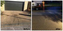 Before & After shots of Mr. Nash Singh's Driveway clean in Dannemora, Botany Downs July 2017 - Driveway Chem wash