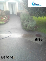 Before & After shots of Kevin Slaters Driveway clean in Warkworth this August 2017 - Driveway Clean