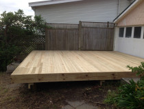 Deck completed - Removed vegetation, pine stump & completed deck (4 days)