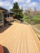 Verda decking & glass balustrade