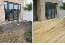 Stonefields Deck (before and after)