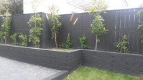 Retaining,fence and planting