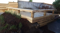 Premium pine deck with seating