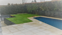 Earthworks,retaining, paving and fence