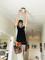 On the Job - Ben installing a downlight