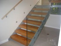 Indoor Glass Balustrade - Button Fixed