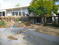 pool installation progress by AG & SF Hine
