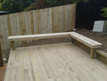 Decking with fence - AJ & SJ Contractors