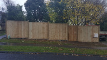 Fence with gate completed by AJ & SJ Contractors