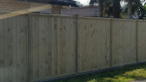 Dressed timber fence shiplap palings by AJ & SJ Contractors