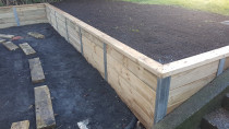 retaining wall by AJ & SJ Contractors