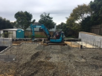 A job filling up a floor slab base with metal for a brand new home in Remuera by AJLC Excavation