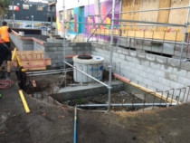 This is a job that we did - drainage and backfill of the slab at Crave Cafe by AJLC Excavation