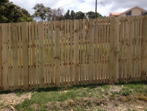 Wooden Fences - Custom made wooden fence to the customers specification requiring random pailing widths.