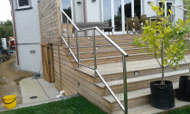 Stainless Steel Baulstrading - Stainless steel baulstrading custom made to fit and deck configuration.