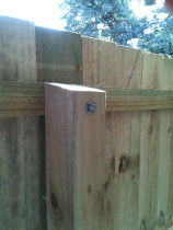 Standard Wooden Fences - Strong and built to remain straight, our standard wooden fences are made with 100 x 100 mm posts and bolted top rails. This extra detail minimises shrinkage and twisting that happen naturally to any wooden fence.