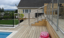 Stainless Steel Pool Fencing - Stainless steel pool safety fence and gates.