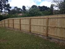 Wooden Fences - Standard wooden fence topped off with capping.