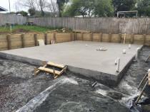 All Round Construction Ltd - Retainging wall and slab - Concrete slab ,ready to build.