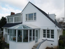 White Conservatory by Aluminium City Penrose