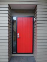 Powder Coated Aluminium Entry Door by Aluminium City Penrose