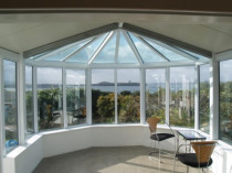 White Conservatory Inside by Aluminium City Penrose
